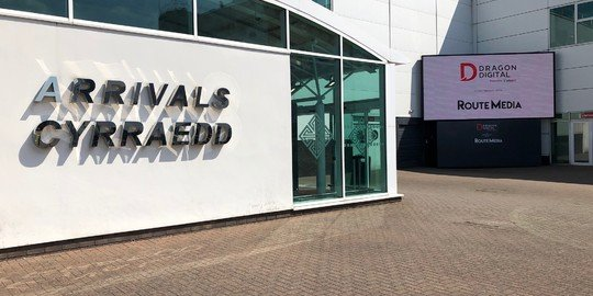 New digital screen unveiled at Cardiff Airport